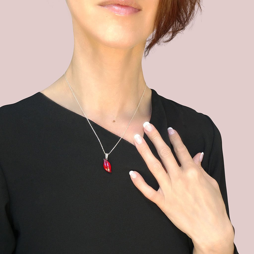 Microcosmoses NECKLACE NECKLACE RED | ALMOND | REFLET