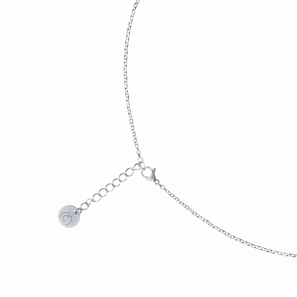 Microcosmoses NECKLACE NECKLACE SILVER PEARL ~ AQUA | DROP | REFLET