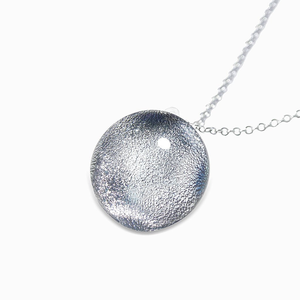 Microcosmoses NECKLACE NECKLACE SILVER PEARL ~ AQUA | ECLIPSE | REFLET