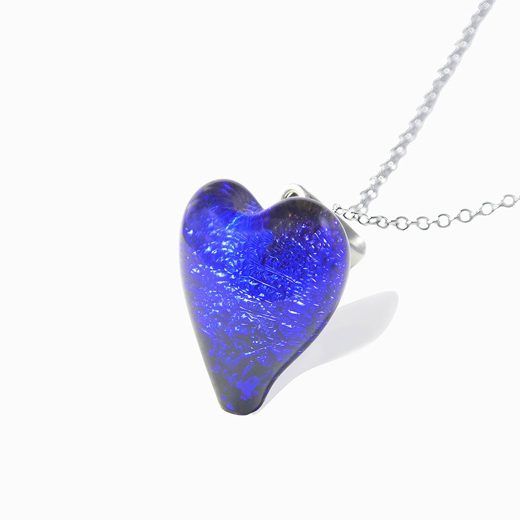 Microcosmoses NECKLACE NECKLACE STARRY BLUE ~ INDIGO | HEART | REFLET