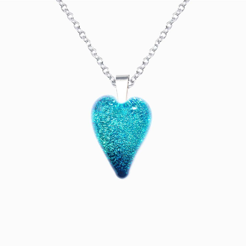 Microcosmoses NECKLACE NECKLACE TURQUOISE ~ NIGHT BLUE | HEART | REFLET