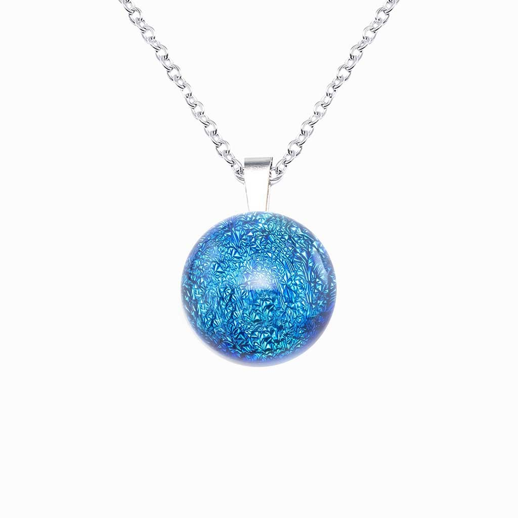 Microcosmoses NECKLACE NECKLACE VERT DE BLEU ~ TEAL | ECLIPSE | REFLET