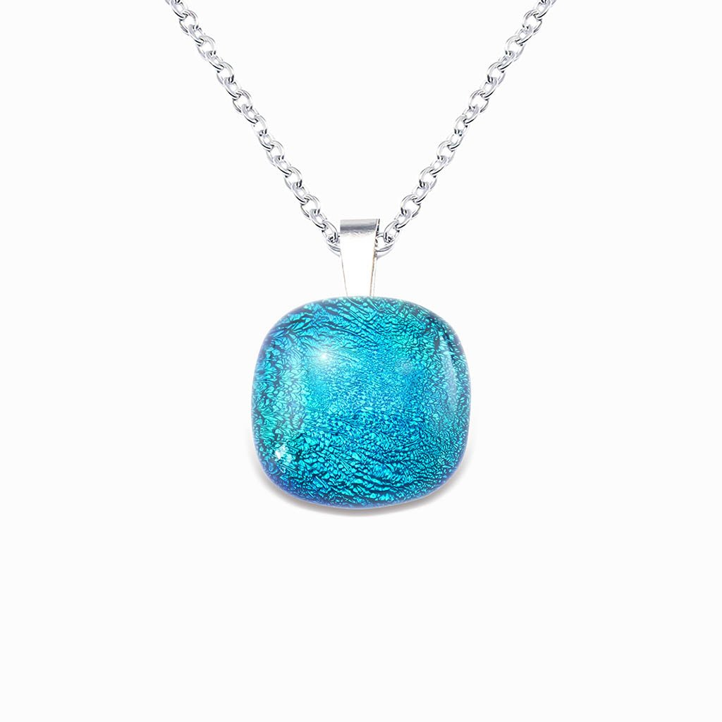 Microcosmoses NECKLACE NECKLACE VERT DE BLEU ~ TEAL | SQUIRCLE | REFLET