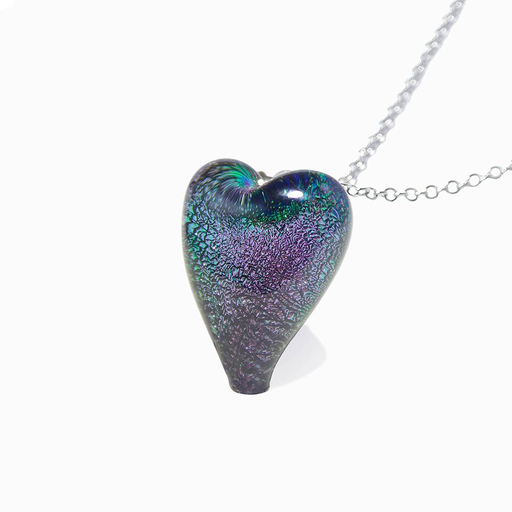 Microcosmoses NECKLACE NECKLACE VIOLET ~ EMERALD | HEART | REFLET