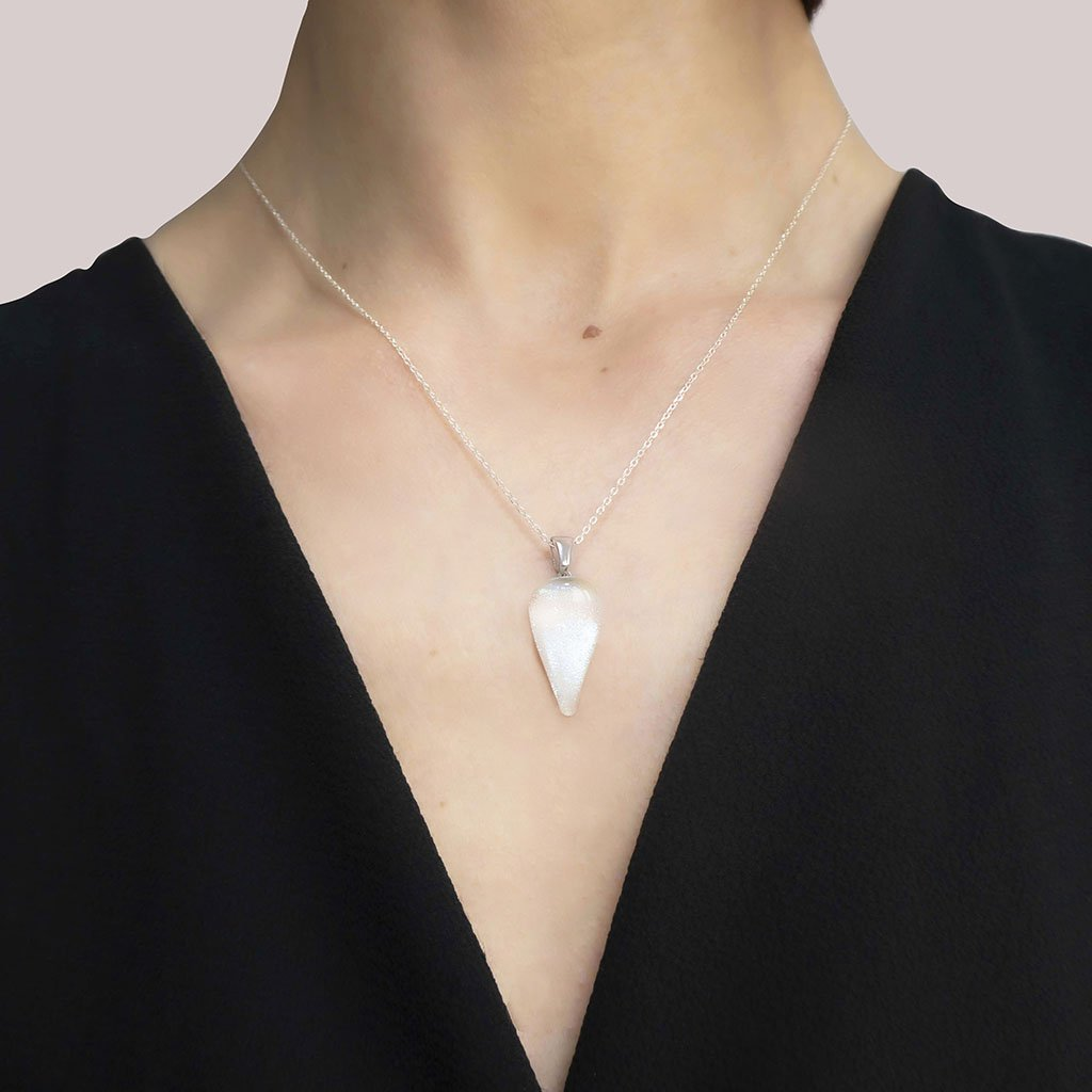 Microcosmoses NECKLACE NECKLACE WHITE RIVER | DROP | REFLET