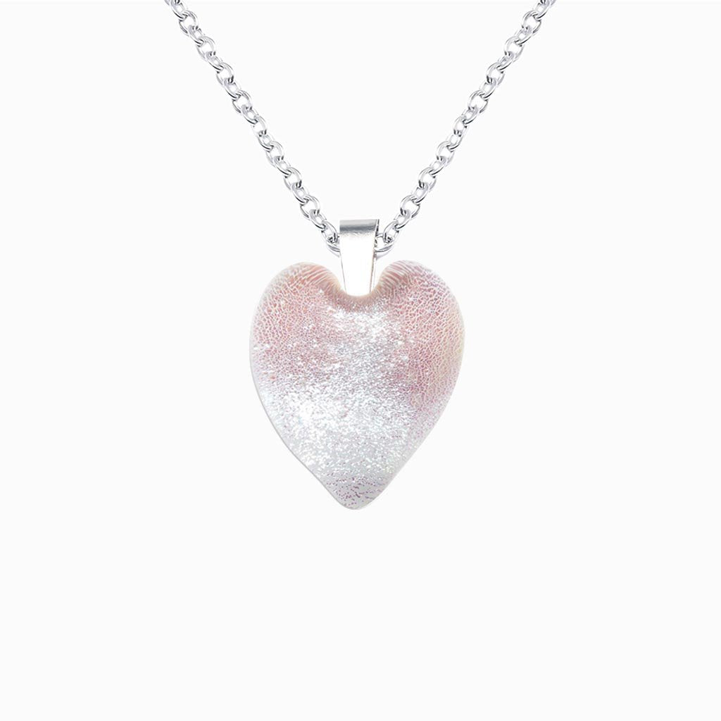 Microcosmoses NECKLACE NECKLACE WHITE RIVER | HEART | REFLET
