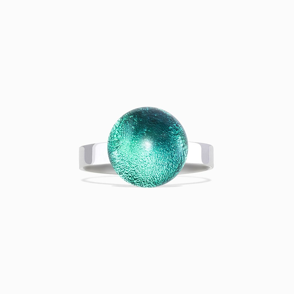 Microcosmoses RINGS GLASS REFLET RING EMERAUDE ~ IRIS BLUE | ECLIPSE | REFLET