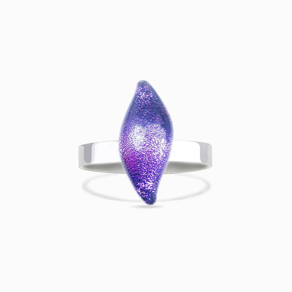 Microcosmoses RINGS GLASS REFLET RING INDIGO ~ ETERNAL FUSHIA | ALMOND | REFLET