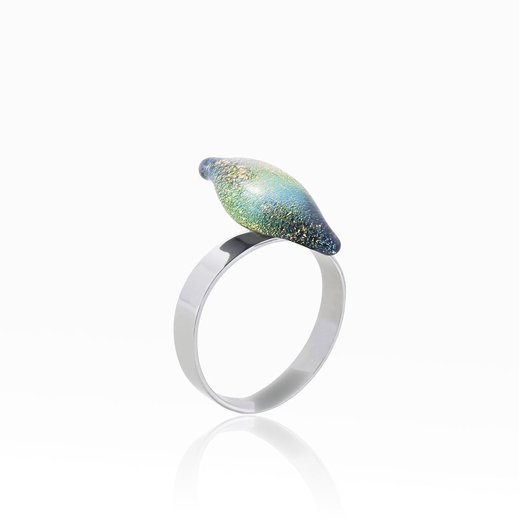 Microcosmoses RINGS GLASS REFLET RING PARME ~ LIGHT GREEN | ALMOND | REFLET