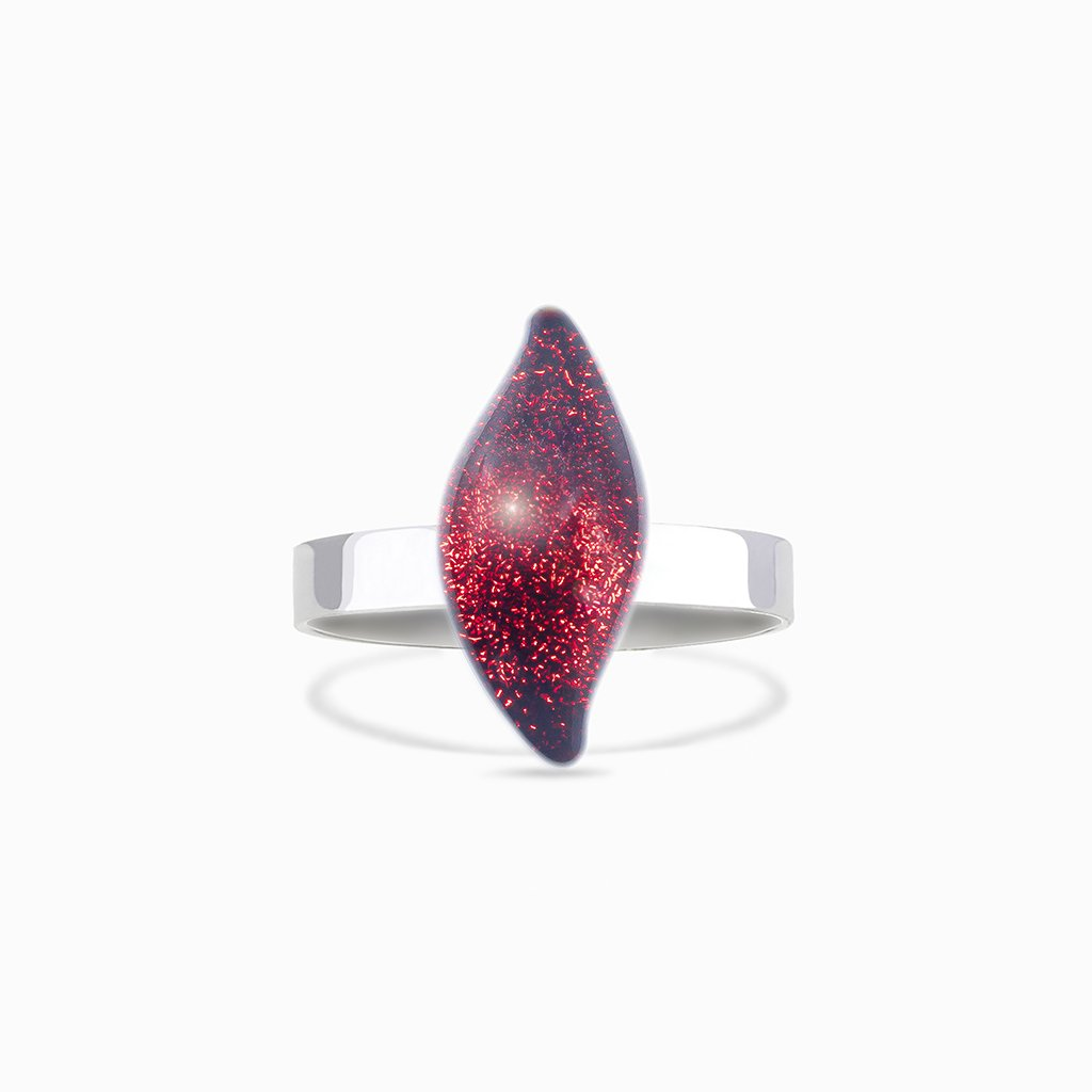 Microcosmoses RINGS GLASS REFLET RING RED | ALMOND | REFLET