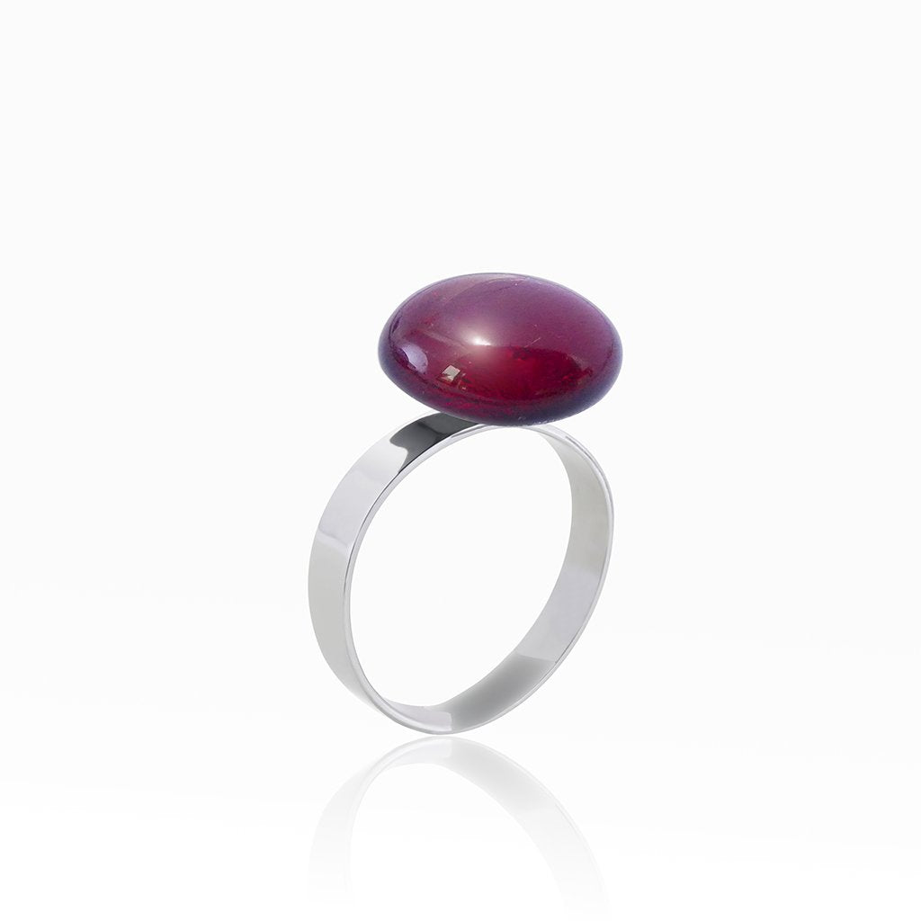 Microcosmoses RINGS GLASS REFLET RING RED | ECLIPSE  REFLET