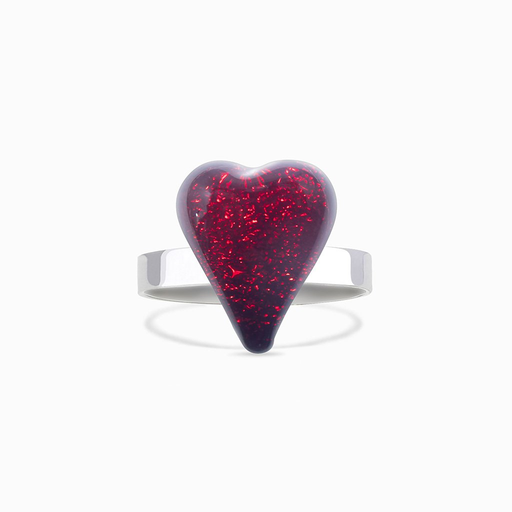 Microcosmoses RINGS GLASS REFLET RING RED | HEART | REFLET