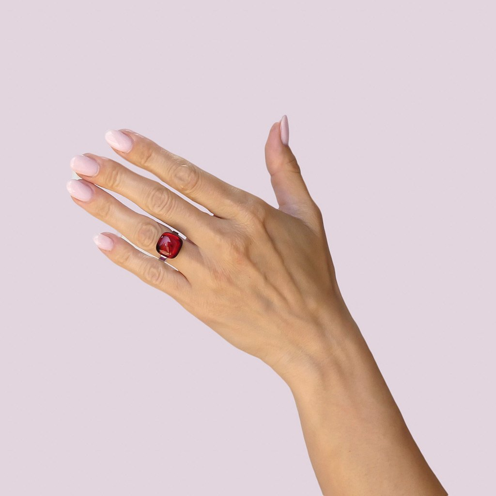 Microcosmoses RINGS GLASS REFLET RING RED | SQUIRCLE | REFLET