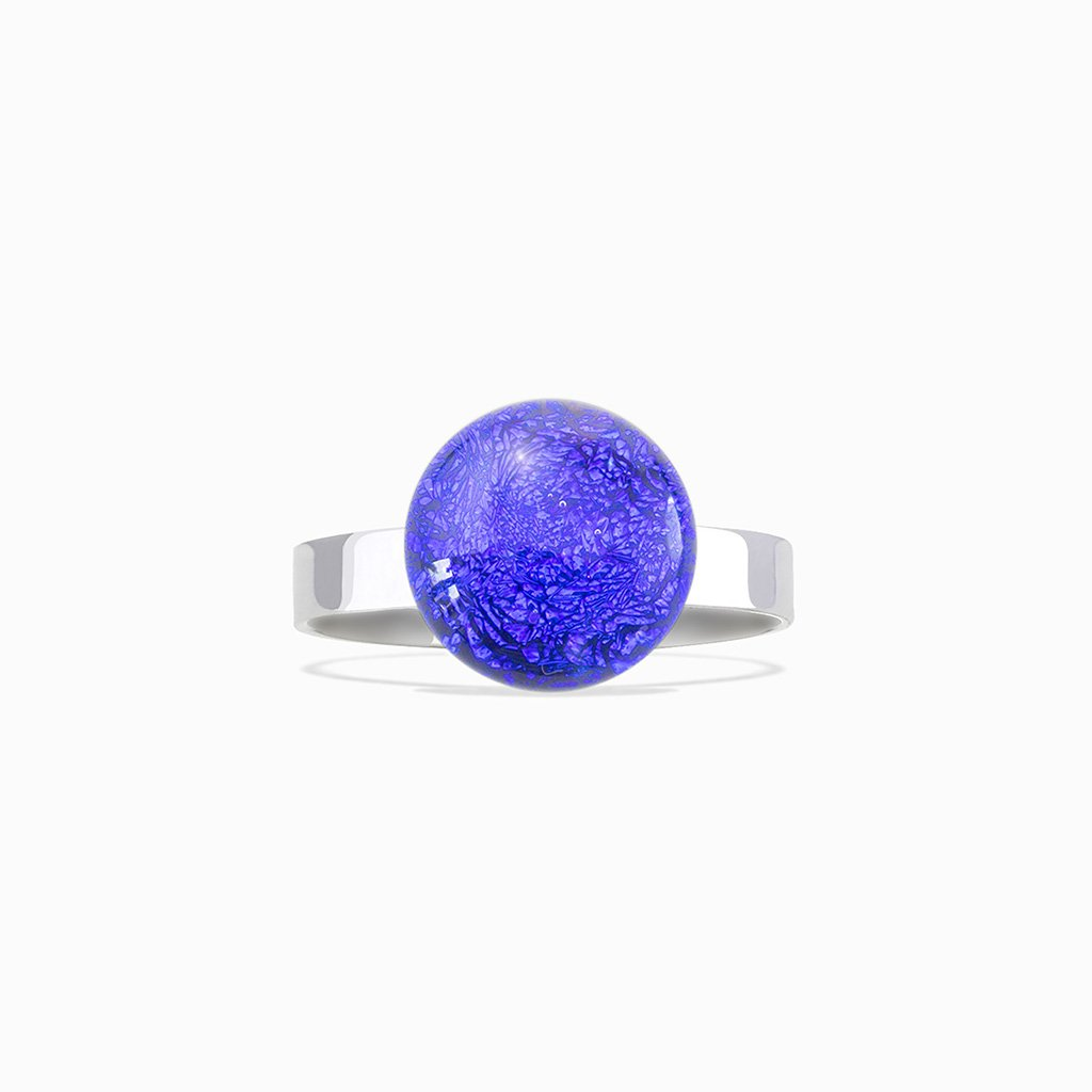 Microcosmoses RINGS GLASS REFLET RING STARRY BLUE ~ INDIGO | ECLIPSE | REFLET