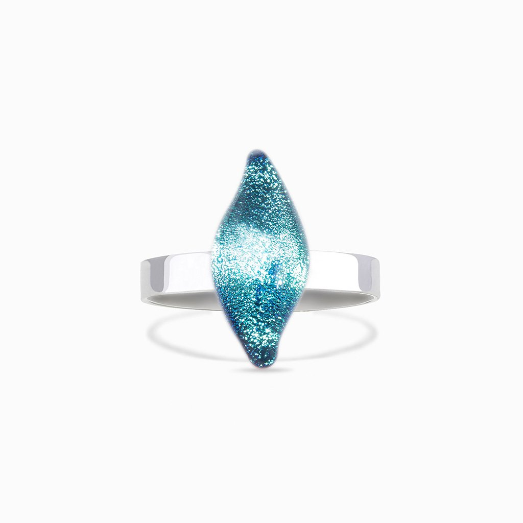 Microcosmoses RINGS GLASS REFLET RING TURQUOISE ~ NIGHT BLUE | ALMOND | REFLET