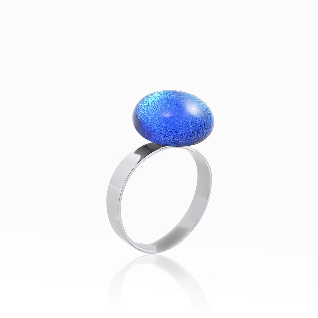 Microcosmoses RINGS GLASS REFLET RING TURQUOISE ~ NIGHT BLUE | ECLIPSE | REFLET