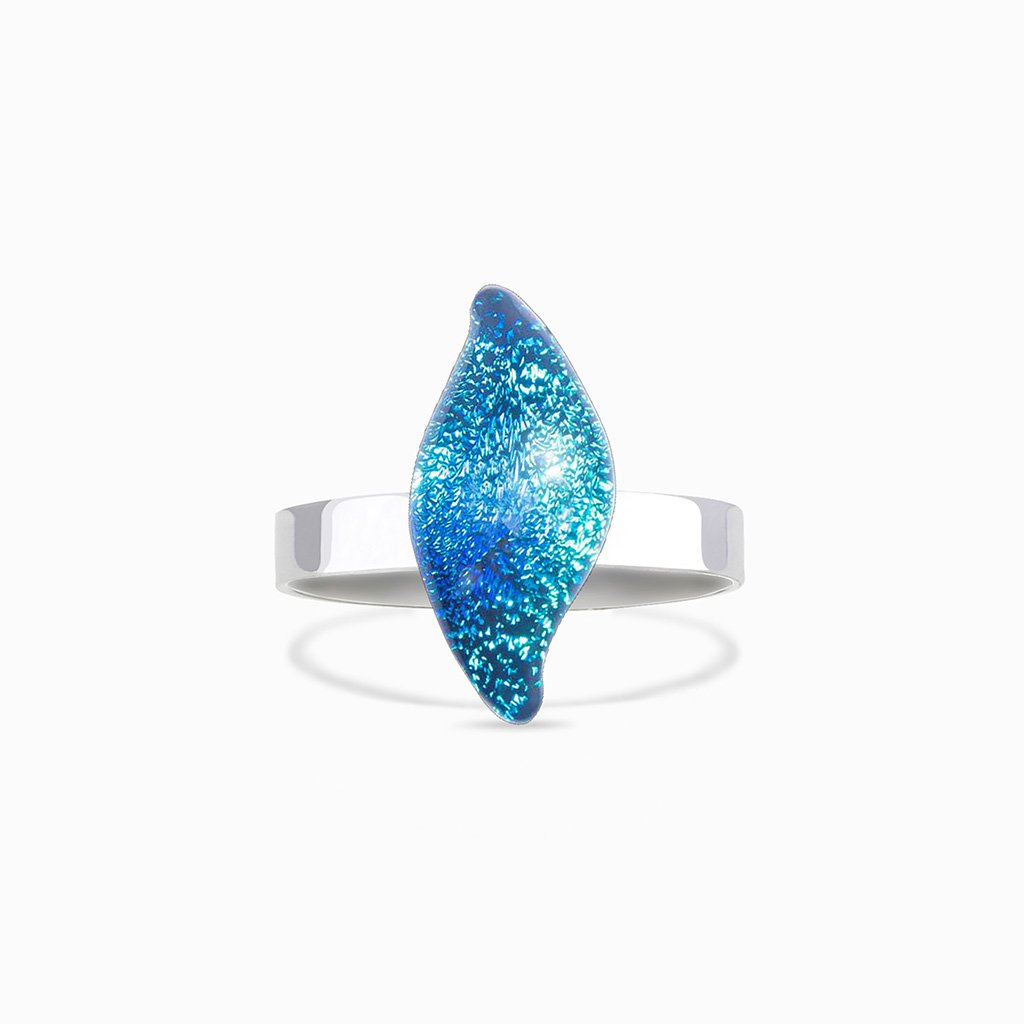 Microcosmoses RINGS GLASS REFLET RING VERT DE BLEU ~ TEAL | ALMOND | REFLET
