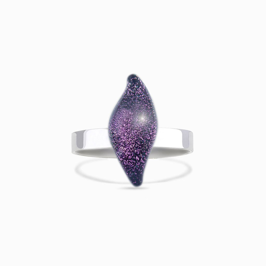 Microcosmoses RINGS GLASS REFLET RING VIOLET ~ EMERALD | ALMOND | REFLET