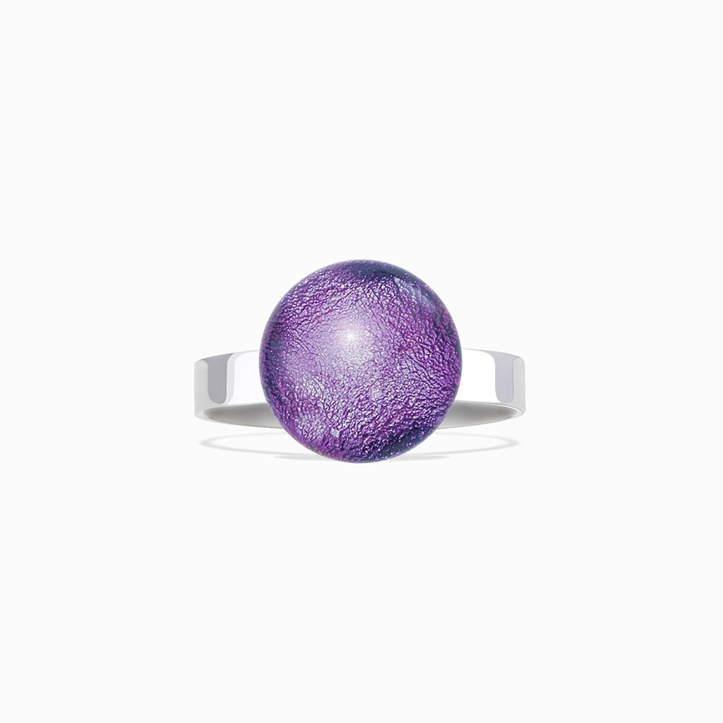 Microcosmoses RINGS GLASS REFLET RING VIOLET ~ EMERALD | ECLIPSE | REFLET