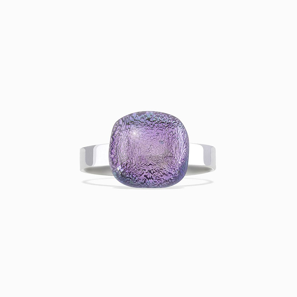 Microcosmoses RINGS GLASS REFLET RING VIOLET ~ EMERALD | SQUIRCLE | REFLET