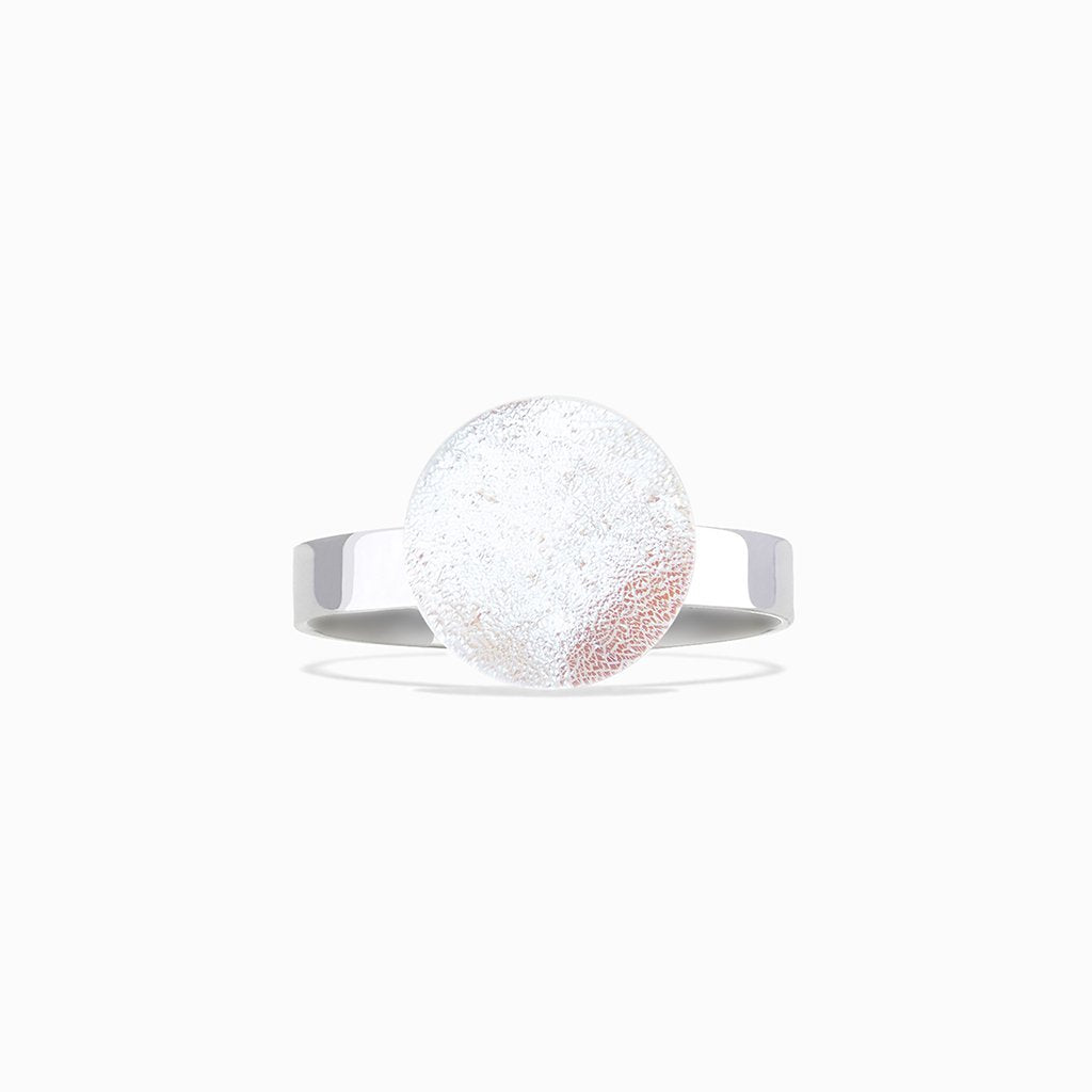 Microcosmoses RINGS GLASS REFLET RING WHITE RIVER | ECLIPSE | REFLET