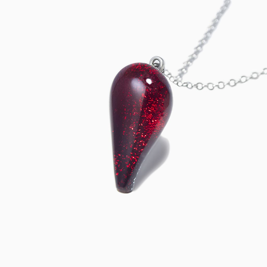 NECKLACE RED | DROP | REFLET
