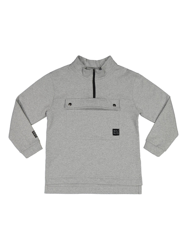 Pure Anorak Sweatshirt, light grey melange