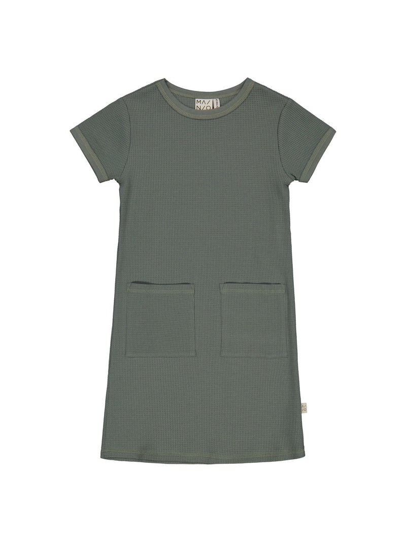 Waffle Dress, agave green