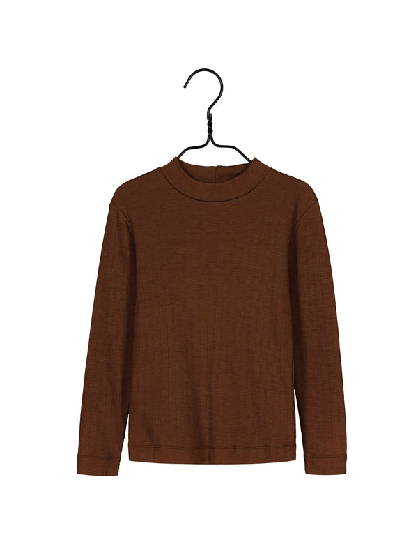 Merino Wool Shirt, Cinnamon