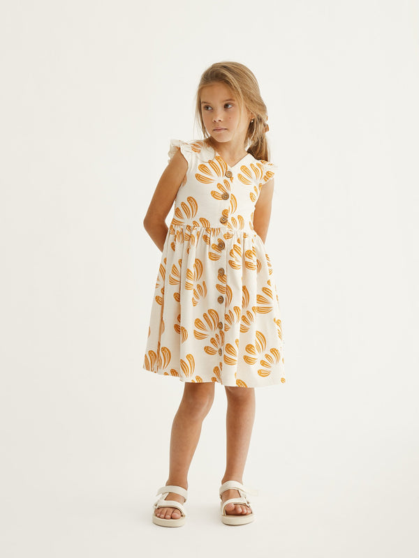 Kids Anemone Button Dress