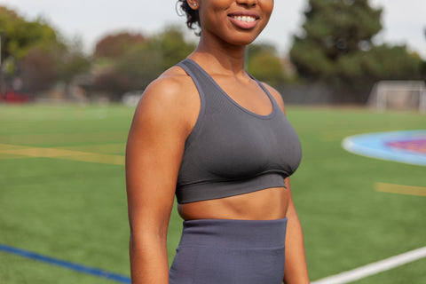 Shani Charcoal Performance Sports Bra