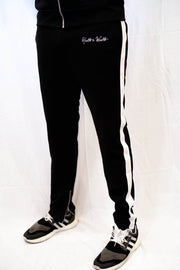 Noir (Black/White) Track Pants