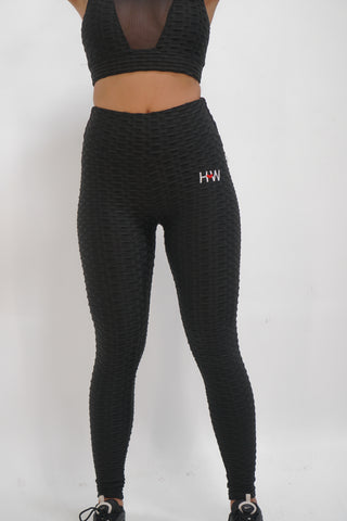 Waffle-Textured Performance Leggings