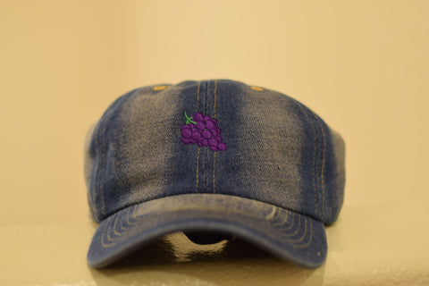 GRAPE Emoji Denim Dad Hat