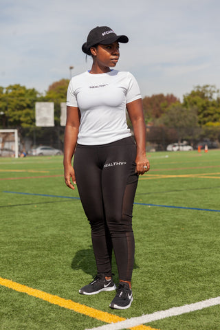 """Healthy"" Women's Black Performance Leggings"