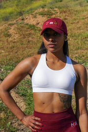White Performance Sports Bra