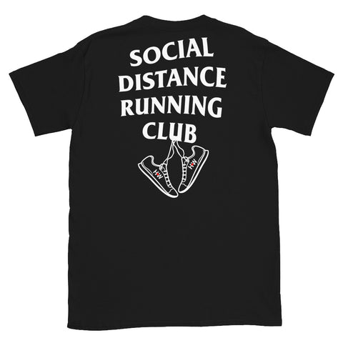 Black Social Distance Running T-Shirt