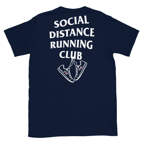Blue Social Distance Running T-Shirt