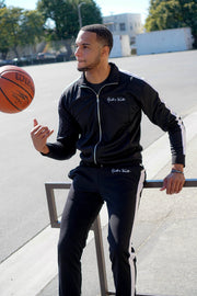 Noir (Black/White) Track Jacket