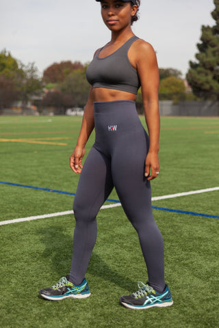 Shani Charcoal High Waisted Leggings