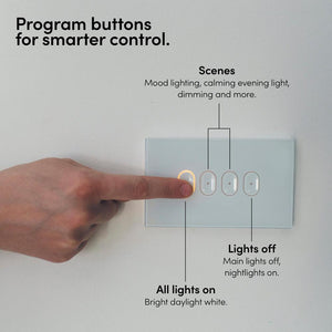 LIFX White 4-button in-wall Wi-Fi Controlled Smart Switch