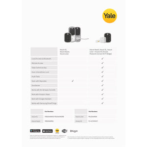 Yale Assure SL Digital Lock Deadbolt + Smart Hub & Door Sensor
