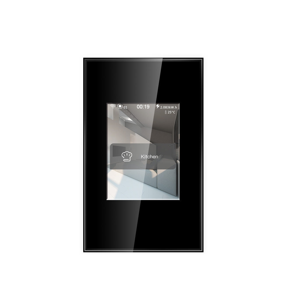 Black LCD Wi-Fi Light Switch - Google & Alexa
