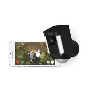 Ring Spotlight Wired Camera - Black