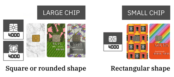 chip sizes