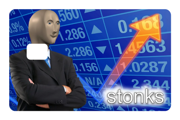 Stonks Credit Card Cover