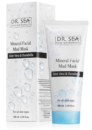 Mineral Facial Mud Mask with Aloe Vera & Dunaliella 死海泥杜氏藻排毒面膜