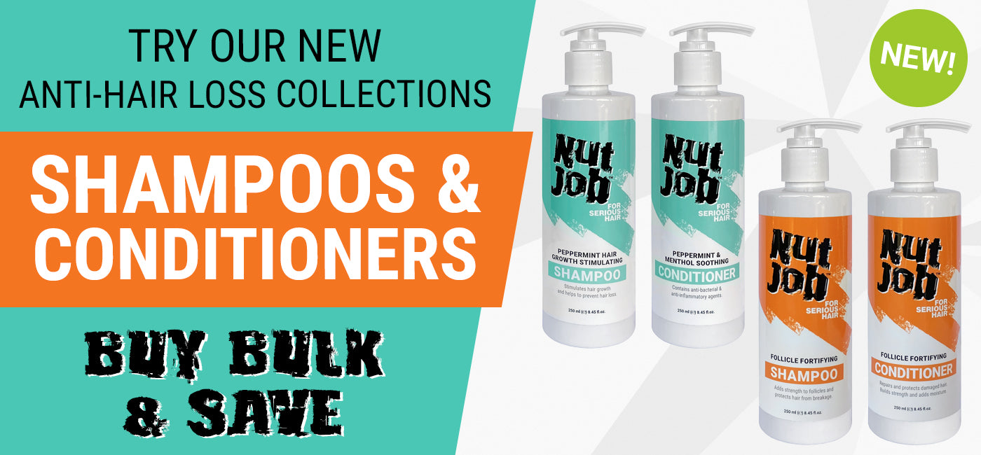 nut job anti-hair loss shampoos and conditioners