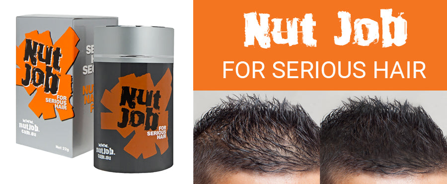 Nut Job Hair Thickening Fibres for Men with Hair Loss