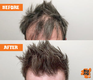 Nut Job Medium Brown Hair Fibres Before and After